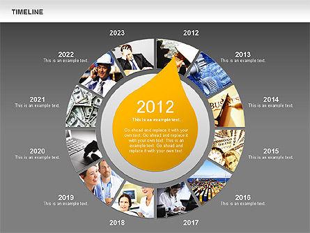 Timeline with Photos Diagram, Slide 12, 01012, Tree Diagrams — PoweredTemplate.com