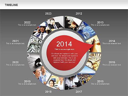 Timeline with Photos Diagram, Slide 14, 01012, Tree Diagrams — PoweredTemplate.com