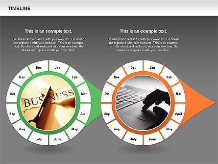 Timeline with Photos Diagram, Slide 15, 01012, Tree Diagrams — PoweredTemplate.com