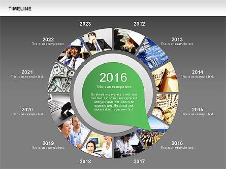 Timeline with Photos Diagram, Slide 16, 01012, Tree Diagrams — PoweredTemplate.com