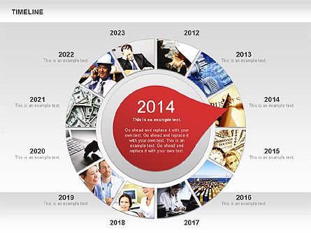 Timeline with Photos Diagram, Slide 3, 01012, Tree Diagrams — PoweredTemplate.com