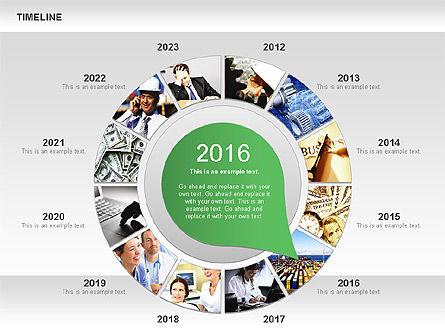 Timeline with Photos Diagram, Slide 5, 01012, Tree Diagrams — PoweredTemplate.com
