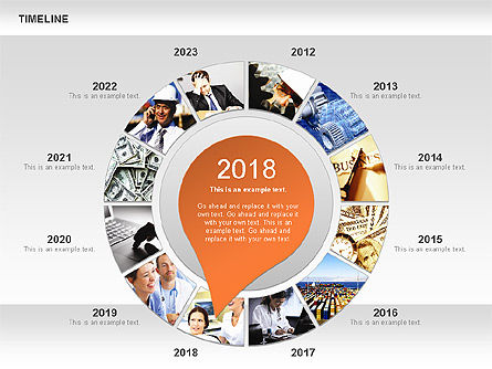 Timeline with Photos Diagram, Slide 7, 01012, Tree Diagrams — PoweredTemplate.com