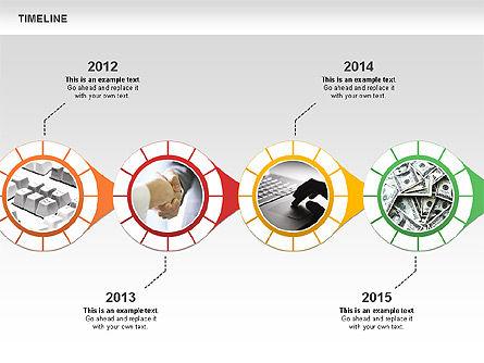 Timeline with Photos Diagram, Slide 8, 01012, Tree Diagrams — PoweredTemplate.com