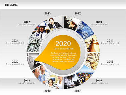 Timeline with Photos Diagram, Slide 9, 01012, Tree Diagrams — PoweredTemplate.com