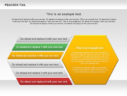 Peacock Tail Diagram, 01014, Business Models — PoweredTemplate.com