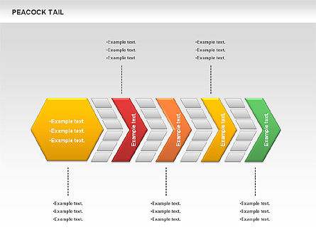 Peacock Tail Diagram, Slide 6, 01014, Business Models — PoweredTemplate.com