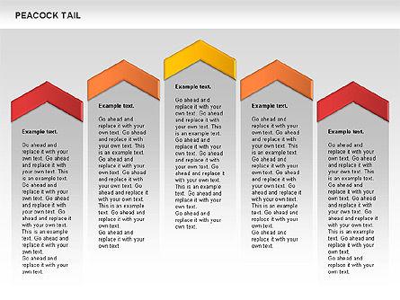 Peacock Tail Diagram, Slide 7, 01014, Business Models — PoweredTemplate.com