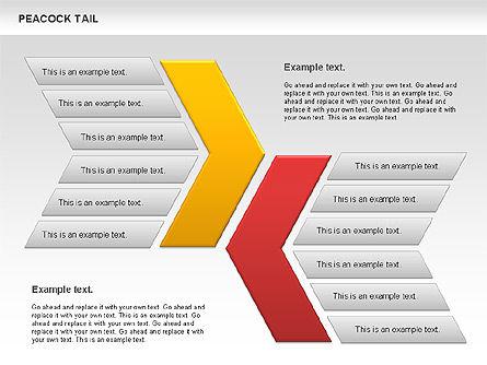 Peacock Tail Diagram, Slide 9, 01014, Business Models — PoweredTemplate.com