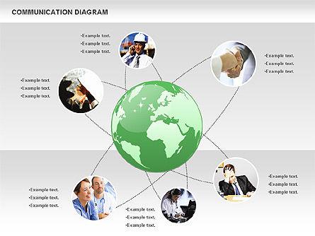 Social Communication Diagram, Slide 10, 01017, Business Models — PoweredTemplate.com