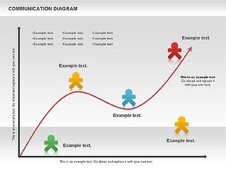 Social Communication Diagram, Slide 11, 01017, Business Models — PoweredTemplate.com