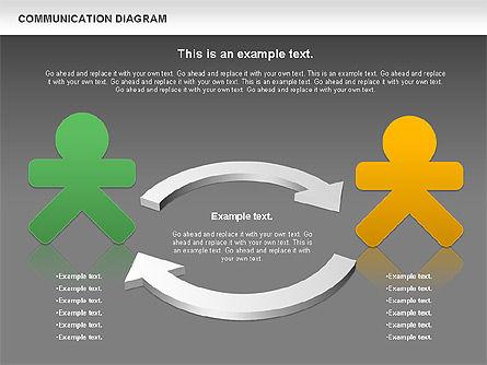 Social Communication Diagram, Slide 12, 01017, Business Models — PoweredTemplate.com