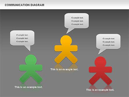 Social Communication Diagram, Slide 13, 01017, Business Models — PoweredTemplate.com