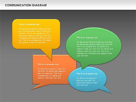 Social Communication Diagram, Slide 14, 01017, Business Models — PoweredTemplate.com