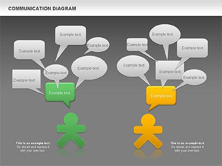 Social Communication Diagram, Slide 15, 01017, Business Models — PoweredTemplate.com
