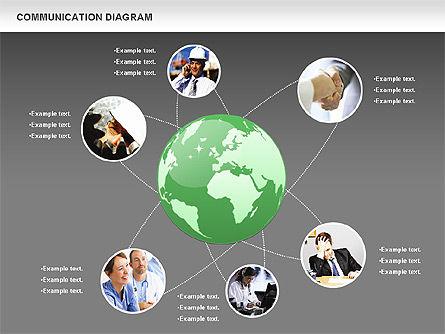 Social Communication Diagram, Slide 16, 01017, Business Models — PoweredTemplate.com