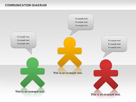 Social Communication Diagram, Slide 2, 01017, Business Models — PoweredTemplate.com