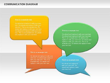 Social Communication Diagram, Slide 3, 01017, Business Models — PoweredTemplate.com