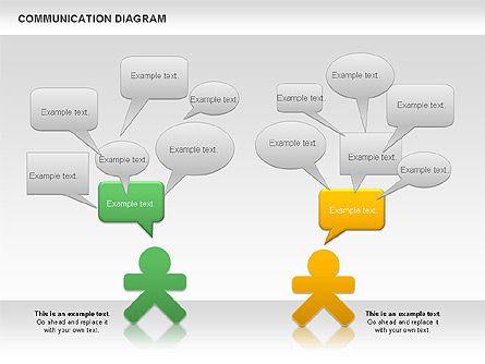 Social Communication Diagram, Slide 4, 01017, Business Models — PoweredTemplate.com