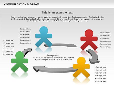 Social Communication Diagram, Slide 5, 01017, Business Models — PoweredTemplate.com