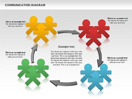 Social Communication Diagram, Slide 6, 01017, Business Models — PoweredTemplate.com