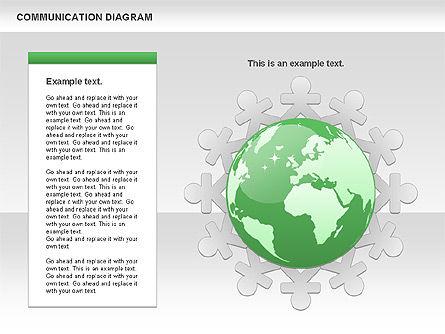 Social Communication Diagram, Slide 8, 01017, Business Models — PoweredTemplate.com