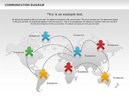 Social Communication Diagram, Slide 9, 01017, Business Models — PoweredTemplate.com