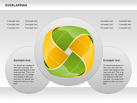 Overlapping Colorful Shapes, Slide 2, 01019, Shapes — PoweredTemplate.com