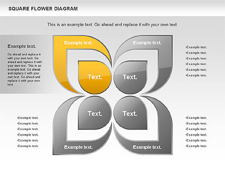 Shapes: Flower and Chevron Diagram #01021