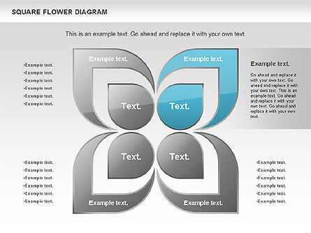 Flower and Chevron Diagram, Slide 2, 01021, Shapes — PoweredTemplate.com