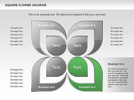 Flower and Chevron Diagram, Slide 3, 01021, Shapes — PoweredTemplate.com