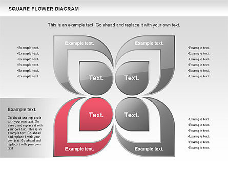 Flower and Chevron Diagram, Slide 4, 01021, Shapes — PoweredTemplate.com