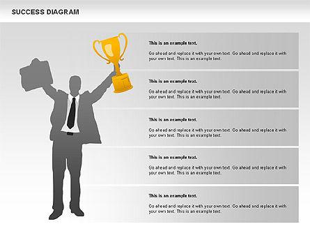 Success Diagram, Slide 10, 01023, Shapes — PoweredTemplate.com