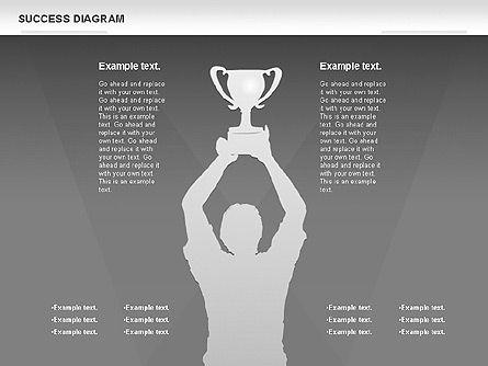 Success Diagram, Slide 13, 01023, Shapes — PoweredTemplate.com
