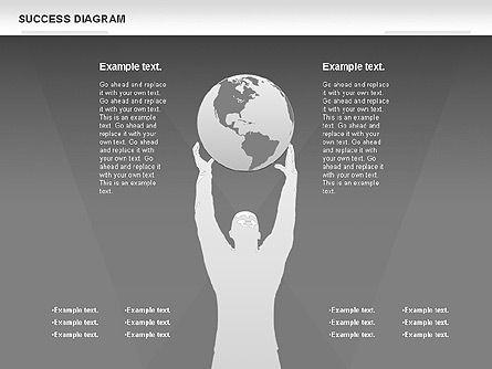 Success Diagram, Slide 14, 01023, Shapes — PoweredTemplate.com