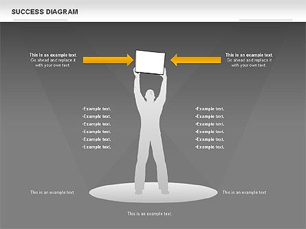Success Diagram, Slide 15, 01023, Shapes — PoweredTemplate.com