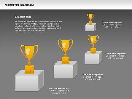 Success Diagram, Slide 16, 01023, Shapes — PoweredTemplate.com