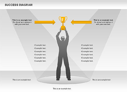 Success Diagram, Slide 4, 01023, Shapes — PoweredTemplate.com