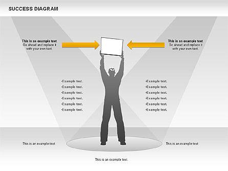 Success Diagram, Slide 5, 01023, Shapes — PoweredTemplate.com