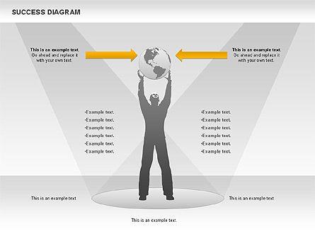 Success Diagram, Slide 6, 01023, Shapes — PoweredTemplate.com