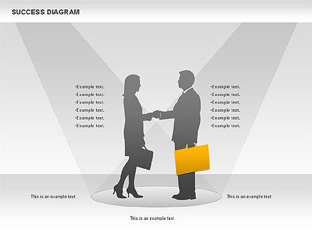 Success Diagram, Slide 8, 01023, Shapes — PoweredTemplate.com