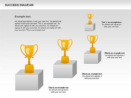 Success Diagram, Slide 9, 01023, Shapes — PoweredTemplate.com