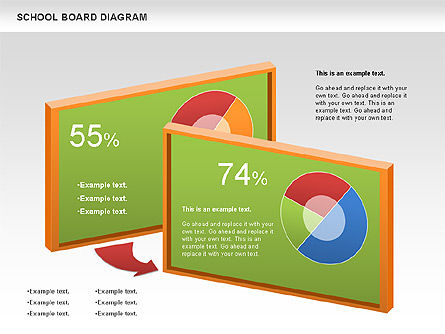 Education Charts and Diagrams: School Board Diagram #01024