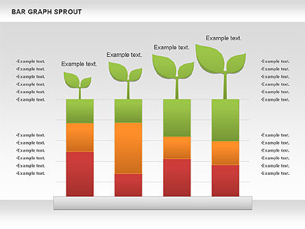 Bar Graph Sprout Chart, 01025, Business Models — PoweredTemplate.com