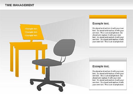 Work-time Management Diagram, Slide 2, 01026, Business Models — PoweredTemplate.com