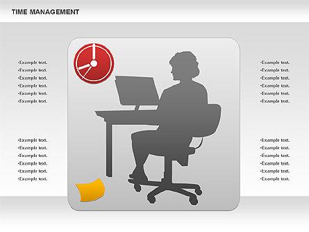 Work-time Management Diagram, Slide 3, 01026, Business Models — PoweredTemplate.com