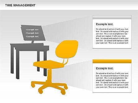 Work-time Management Diagram, Slide 4, 01026, Business Models — PoweredTemplate.com