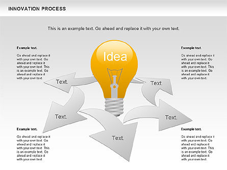 Process Diagrams: Innovation Process with Lamp Diagram #01027