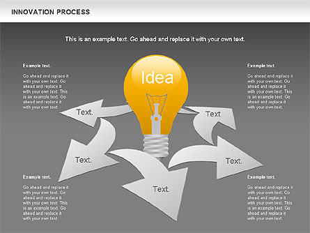 Innovation Process with Lamp Diagram, Slide 12, 01027, Process Diagrams — PoweredTemplate.com