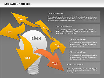 Innovation Process with Lamp Diagram, Slide 13, 01027, Process Diagrams — PoweredTemplate.com